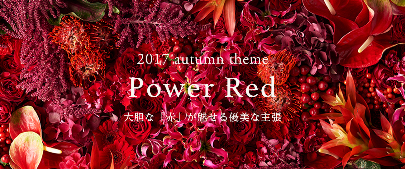 2017 autumn theme Power Red